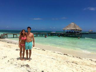 En la playa de Cayo Guillermo