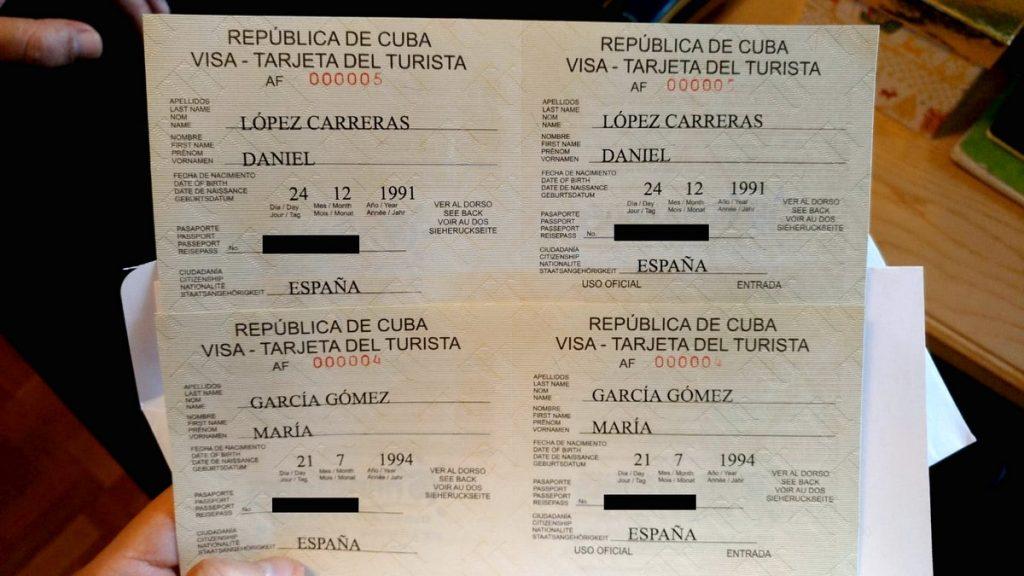 Nuestros visados comprados con OnlineTours